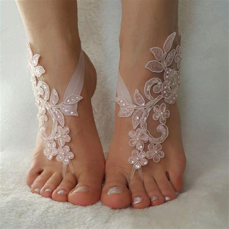 blush sandals wedding blush pink beaded wedding barefoot sandals country