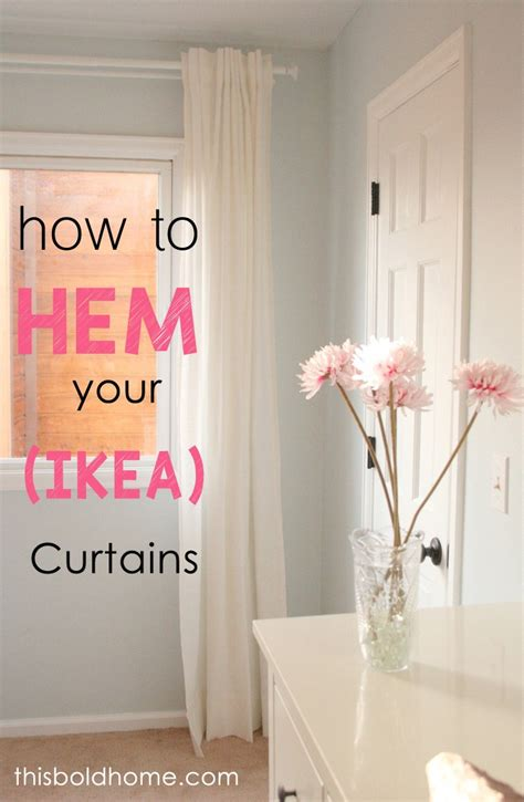 easy way to hem curtains the easiest way to hem ikea curtains this bold home