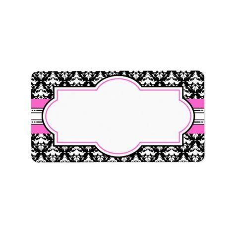 elegant printable gift tags elegant pink and black printable address labels zazzle