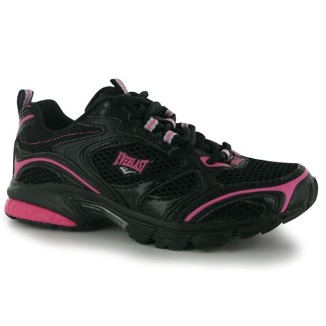everlast running shoes everlast jog ii womens running shoes trainers black pink