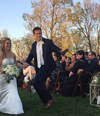 Shawn johnson amp andrew east are so cute walking down the aisle at