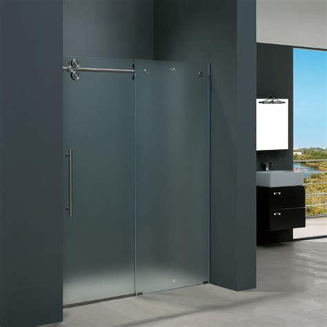 Stainless Steel Shower Stall vigo vg6041stmt6074l frosted glass stainless steel shower enclosures shower