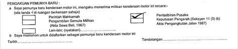 info malaysia kini cara tukar nama geran motor kereta