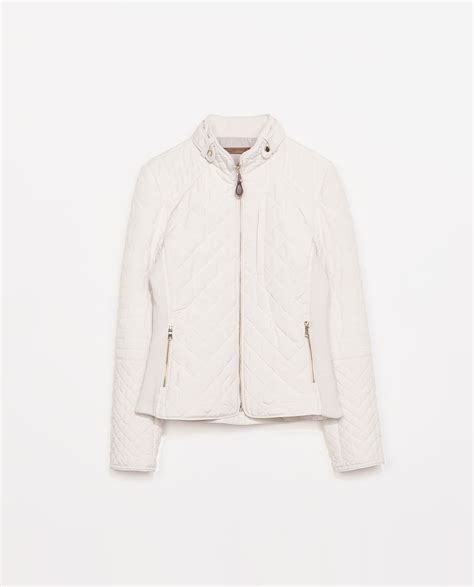Zara Quilted Vest by Zara Quilted Jacket In White Lyst