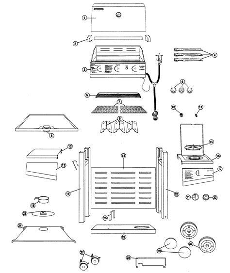 gas grill parts diagram brinkman gas outdoor grill parts model 81063450 sears