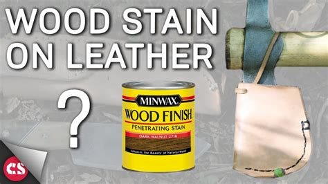 Staining A Leather by Wood Stain On Leather
