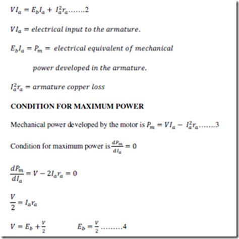 emf equation of motor dc motors part1 electric equipment