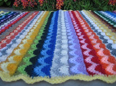 how to knit a zig zag blanket crochet zigzag blanket creatys for