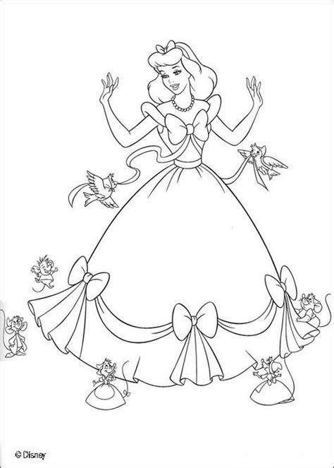 cinderella coloring book pages cinderella s friends