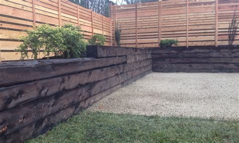 Landscape Timber Wall Design Landscaping Timbers Retaining Wall Landscaping