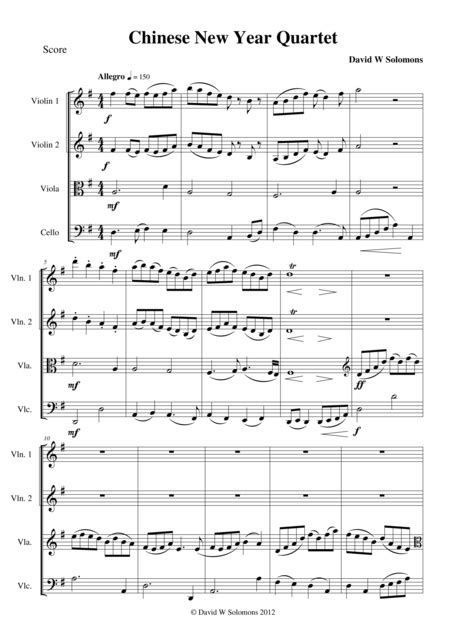 new year song pdf new year celebration for string quartet