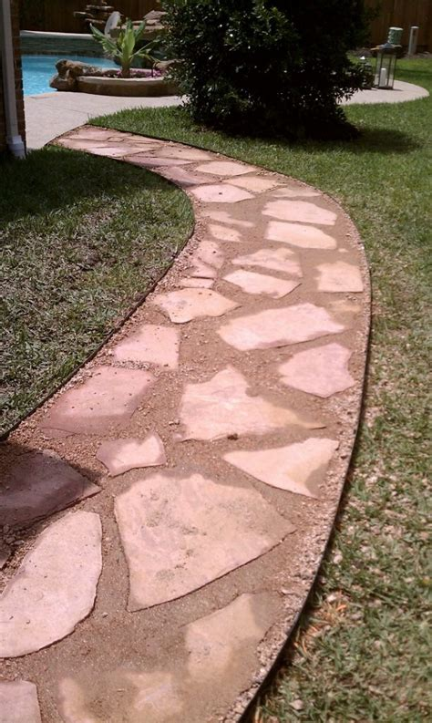 Diy Flagstone Patio Ideas Solve The Puzzle Diy Flagstone Walkway Tutorial For Inspiration