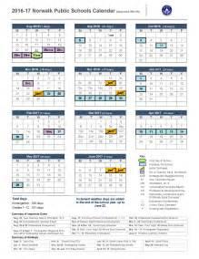 2016 17 calendar norwalk public schools