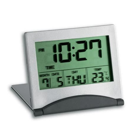 buy digital clock buy tfa multifunctional digital alarm clock silver 7cm