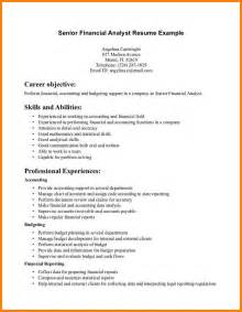Sample Resume Financial Analyst financial analyst resume resume format download pdf