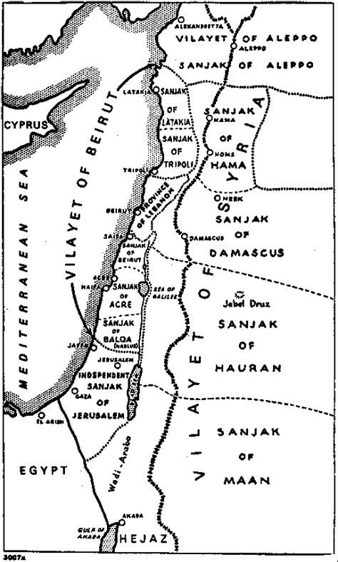ottoman syria map map of ottoman administrative districts 1915