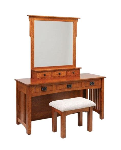mission vanity dressing table  dutchcrafters amish