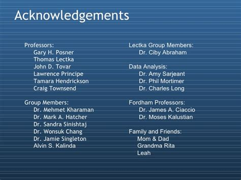 acknowledgement thesis defense thesis defense 2008