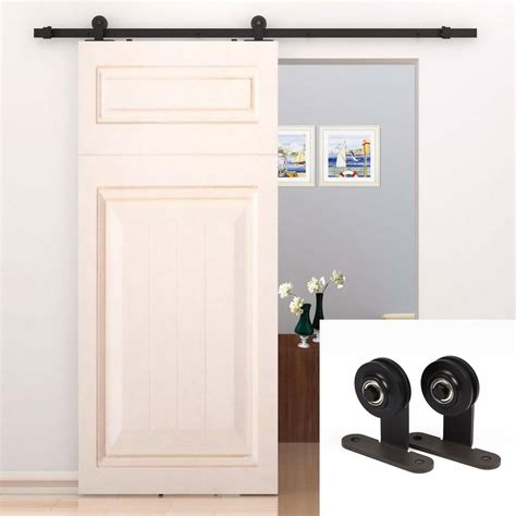 closet sliding door hardware 6 6 ft interior sliding barn door kit hardware track set antique t style new ebay