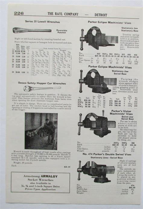 ad print parker machinists bench vises  ebay