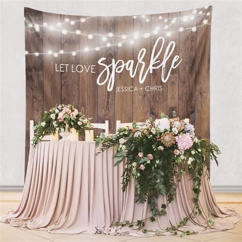 Wedding Backdrop Personalized by Custom Wedding Tapestries For Dessert Backdrops And Photo