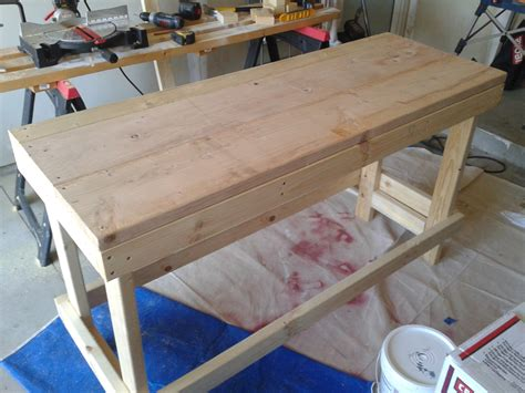 home made work bench a hodgepodge of odds and ends under 30 garage workbench