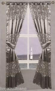 silver window curtains popular bath sinatra silver window curtain ebay