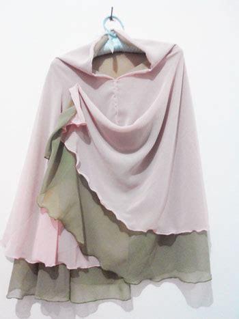 Bergo Ceruti Polos jual jilbab syar i 2 layer 2 tone bergo syar i