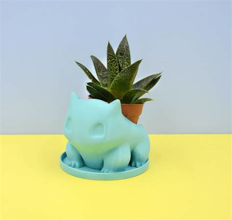 Bulbasaur Planter by Bulbasaur Planter Turquoise Planter Small Succulent Planter