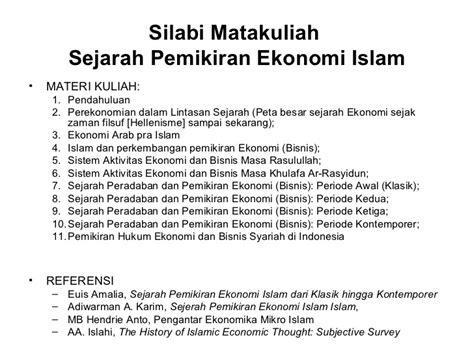 Dpo Buronan Dalam Lintasan Sejarah Islam Klasik sejarah pemikiran ekonomi islam