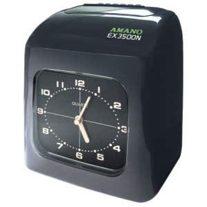 Diskon Amano Time Recorder Ex 3500n amano ex 3500n electronic time clock aroundtheoffice