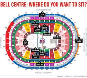 Bell Center Floor Plan by Bell Centre Seating Guide Where To Catch The Most Habs