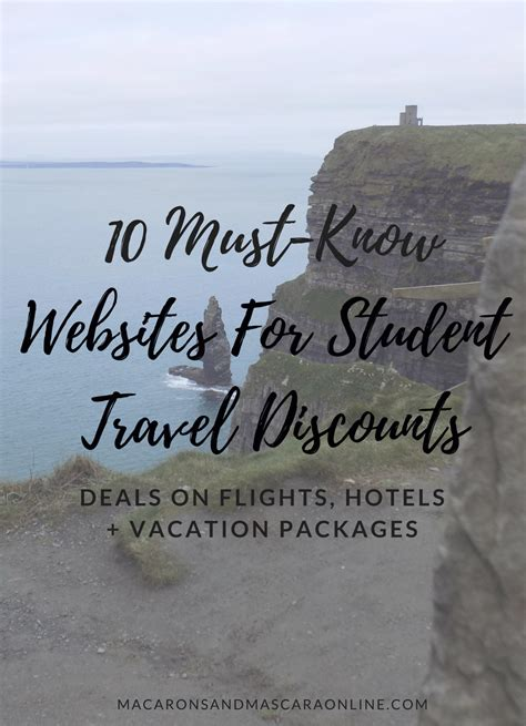 10 must websites for student travel discounts macarons mascara