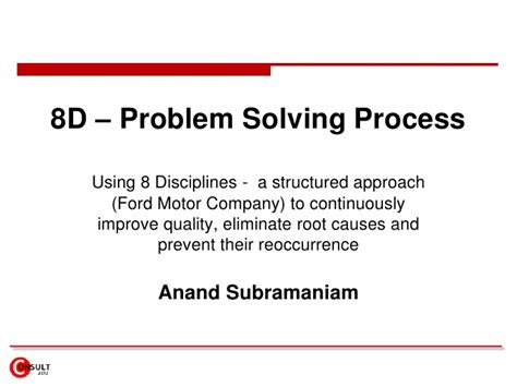 8d problem solving template 8 d problem solving process