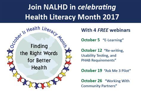 health literacy month one community nebraska association of local health directors home
