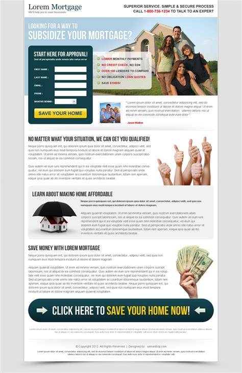 mortgage landing page templates mortgage business service lander 004 mortgage landing