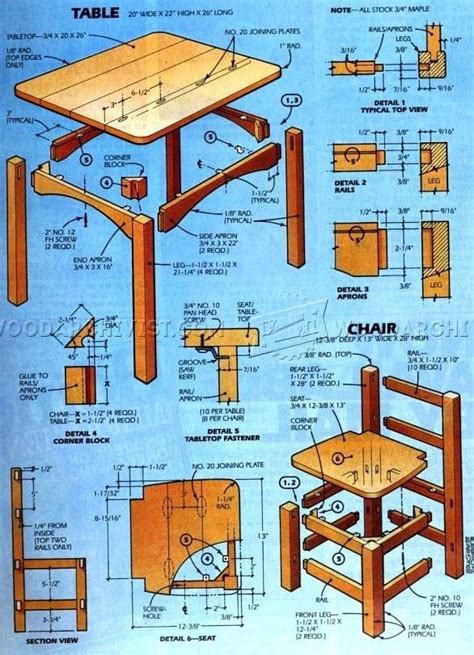 kids table  chair set plan woodarchivist