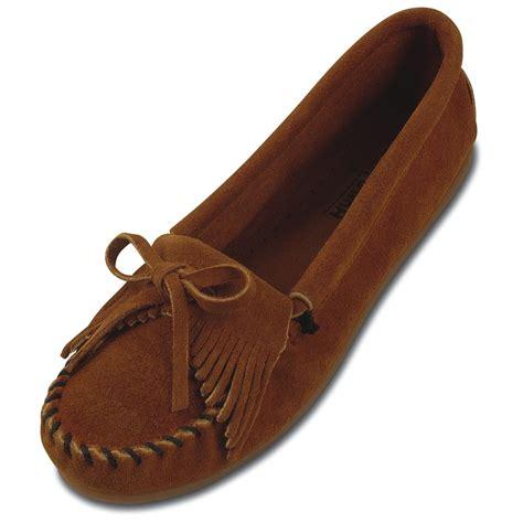 s minnetonka slippers s minnetonka moccasins hardsole moc with kilty