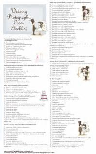 Wedding photo checklist wedding photography list and wedding