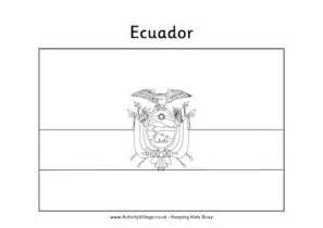 Ecuador Colouring Flag Ecuador Coloring Pages