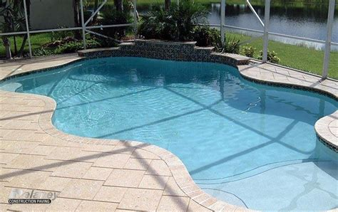 paver brick pool deck with brown concrete and pavers custom 60 pool deck pavers concrete pavers inspiration of
