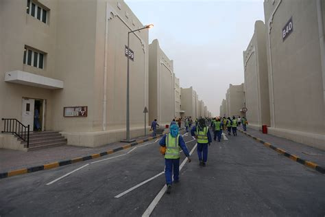 qatar world cup   show  conditions faced  migrant labourers