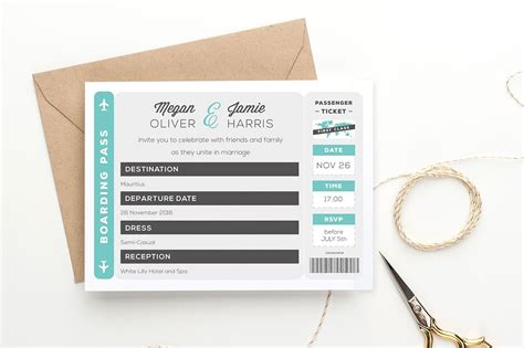 boarding pass template invitation boarding pass wedding invitation invitation templates