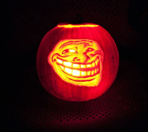 Meme Pumpkin Carving - social media web design pumpkin carvings
