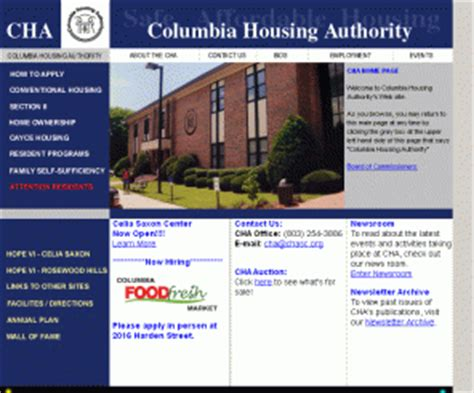 dc section 8 application chasc org columbia housing authority