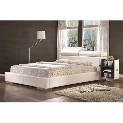 white leather king size bed coaster 300379ke white eastern king size leather bed