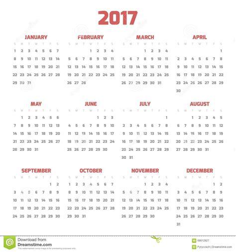 Calendario Week 2017 Calendar With Week Numbers 2017 Calendar Template