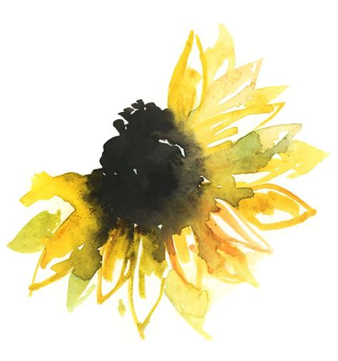 sunflower watercolor tattoo if i were a flower i would be a sunflower to always