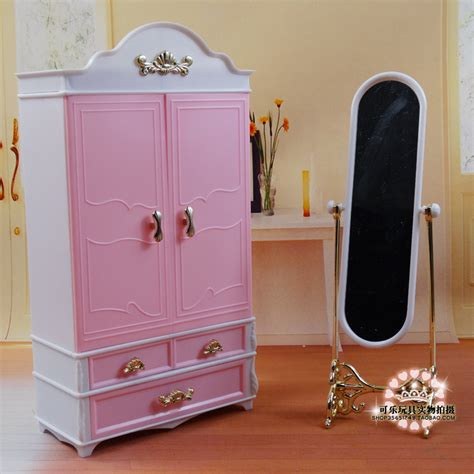 bedroom set with wardrobe closet 2015 hot new bedroom furniture wardrobe closet full length mirror barbie pink set free