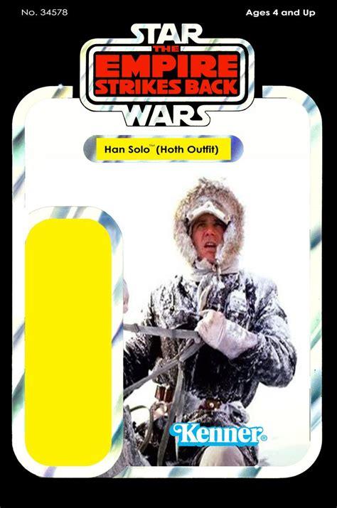 wars figure card template photoshop wars han hoth gear figure card back